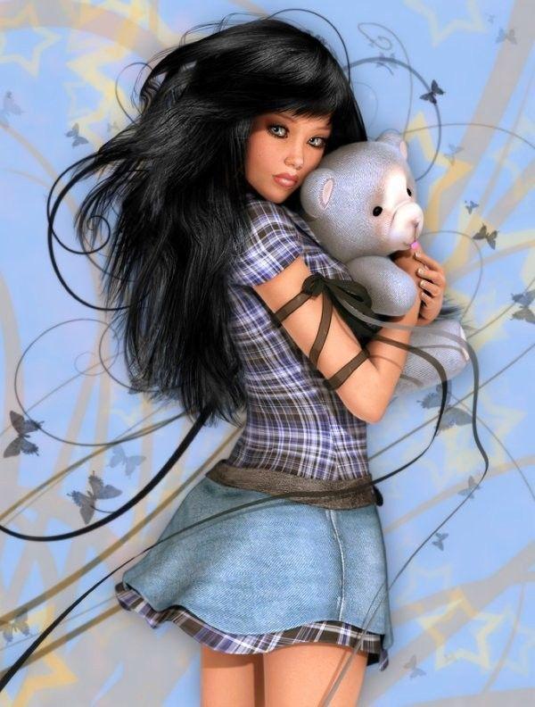 fata cu ursuletul